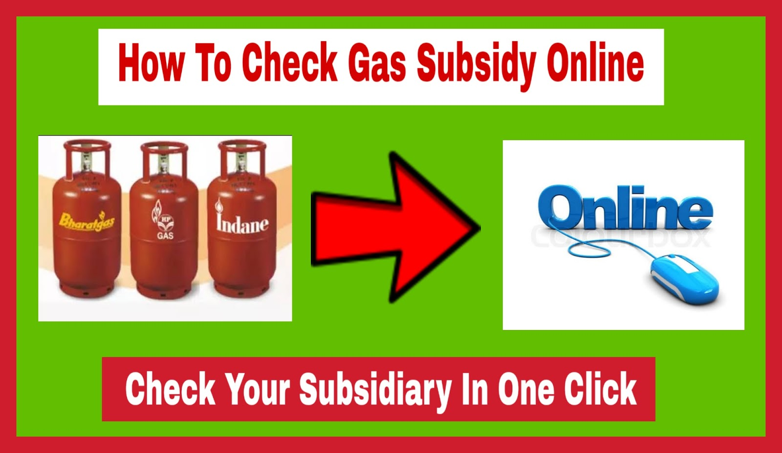 How to Check Gas Subsidy Online