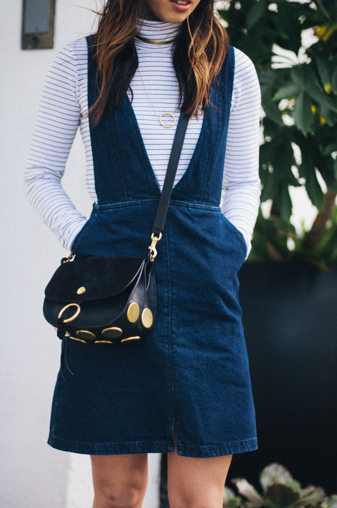 Chloe kurtis mini shoulder bag styled on blogger