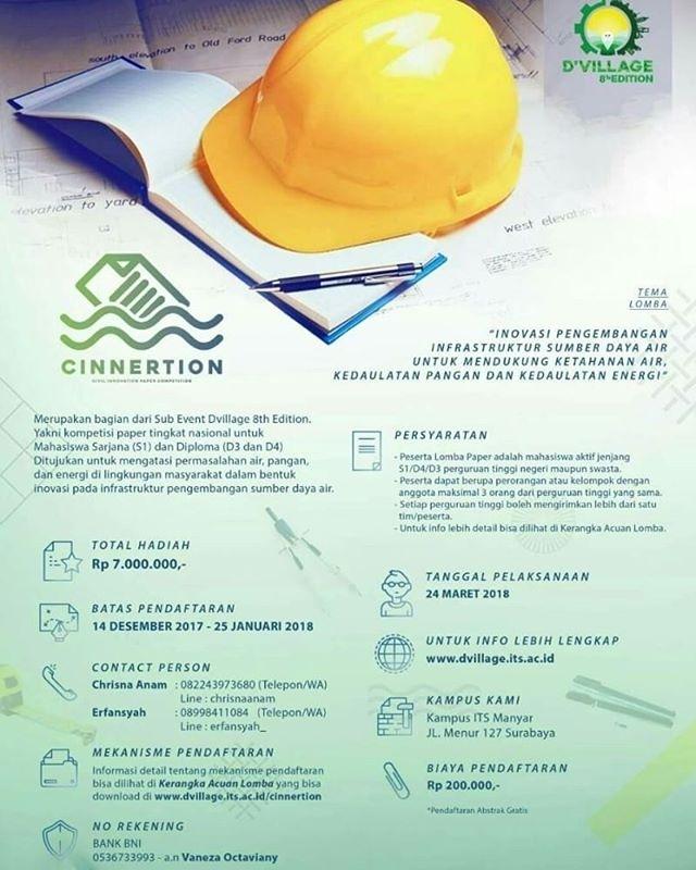 Lomba Karya Tulis Ilmiah Nasional DVILLAGE 8th Edition 2018 Peserta Untuk Mahasiswa