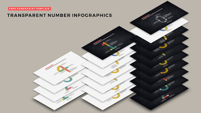 Infographic Transparent Number Design Elements for PowerPoint Templates Main Title Slide