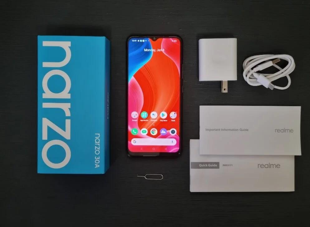 realme Narzo 30A Retail Package