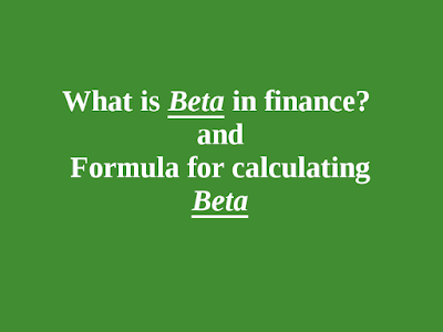 What is Beta in finance? Formula for Beta | Sulthan Academy