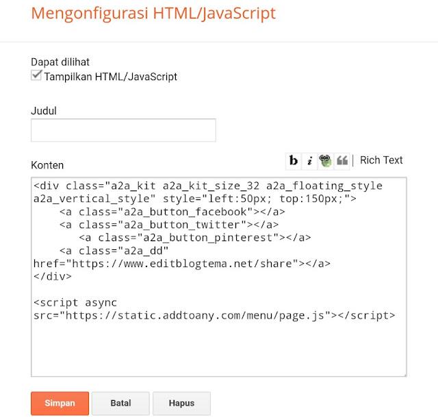 kotak dialog HTML/JavaScript