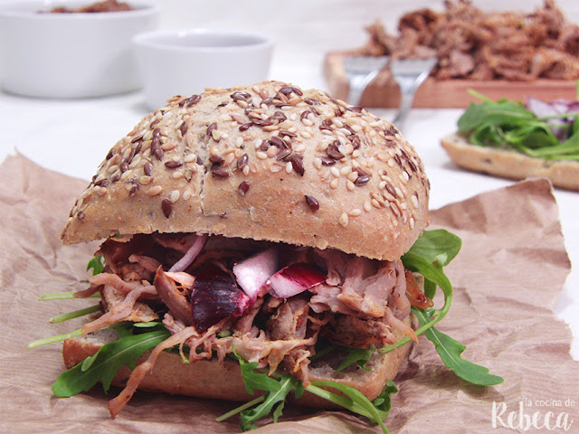 Bocadillo de pulled pork