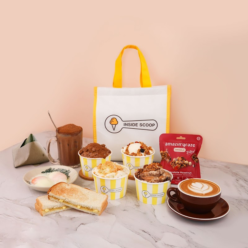 Kickstart the day with Inside Scoop's Breakfast Set Enjoy 50% cashback with ShopeePay (capped at RM4, min. spend RM8)
