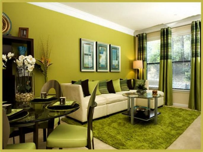 50 gambar model ruang tamu warna hijau klasik for Decoracion hogar verde
