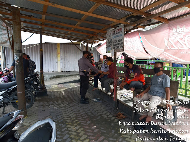 Patroli Pendisiplinan, Personel Polsek Dusel Sosialisasikan Prokes, Tangkal Covid-19