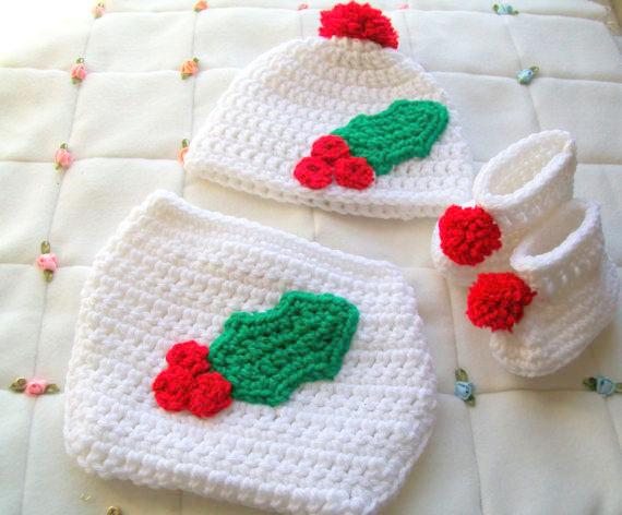Christmas baby  hat Crochet pattern