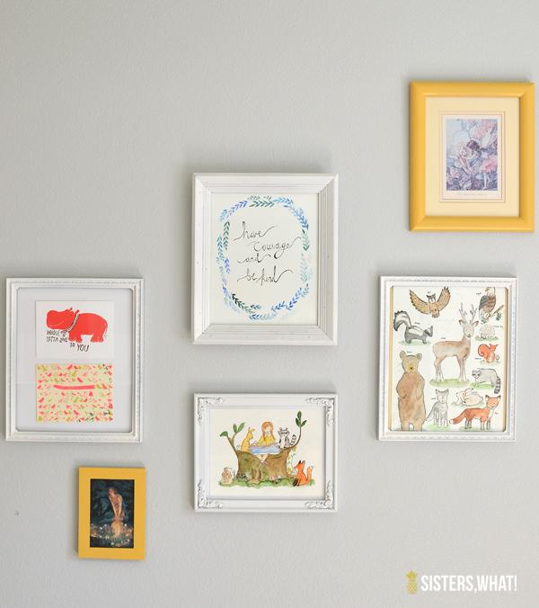Little Girl's Woodland Room Gallery Art