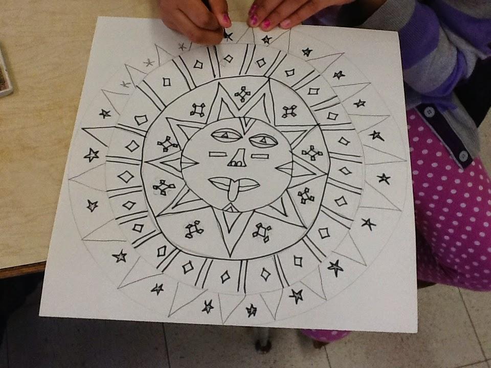 Art Inklings How To Draw Aztec Sun Stones