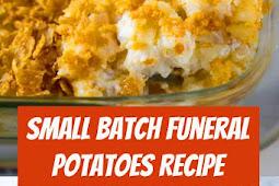 Small Batch Funeral Potatoes Recipe #sidedish #potatoes #potluck