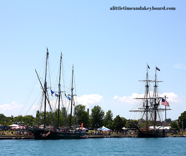The S/V Denis Sullivan and U.S. Brig Niagara in port in Kenosha for Kenosha Tall Ships