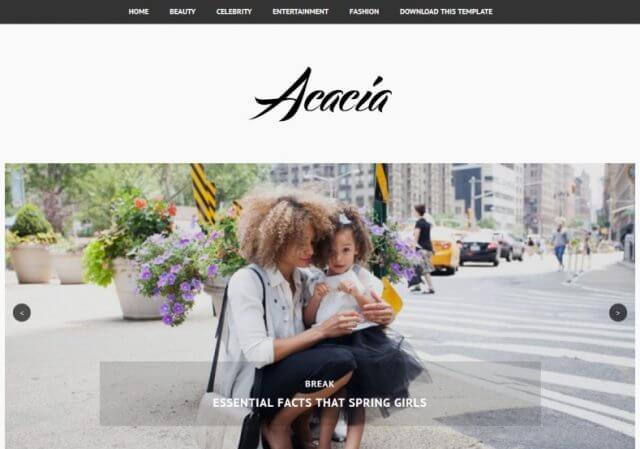 Acacia Ads Ready Blogger Template Full Free Premium Version