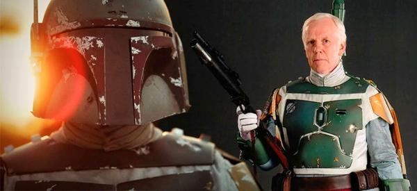 Jeremy Bulloch as STAR WARS bounty hunter Boba Fett.