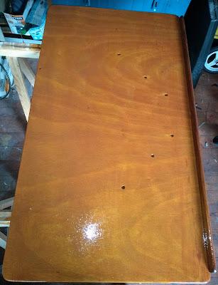 Table EDEL 665 deuxième couche de lasure