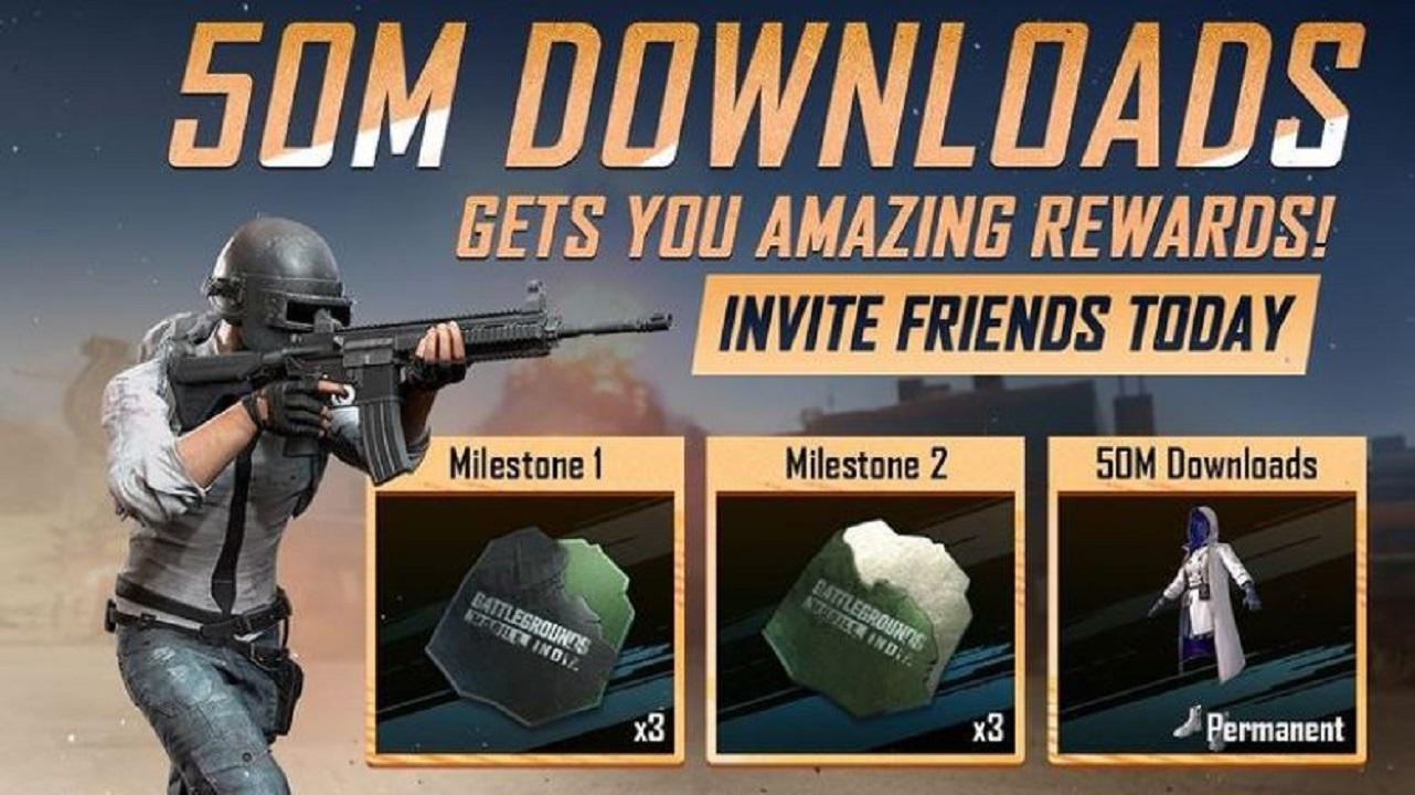 BGMI 50 Million Downloads Event