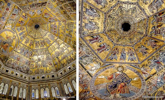 """Mosaico """"O Juízo Final"""", no Batistério de Florença"""