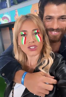 Diletta Leotta Can Yaman all'Olimpico Turchia Italia 11 giugno