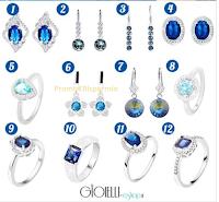 Logo Concorso gratuito Gioielli Eshop: vinci gratis gioiello in argento con pietra Blu