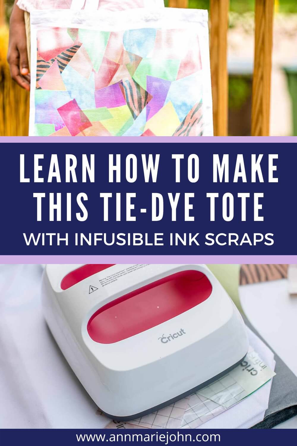 Learn how to make this tie-dye tote with infusible ink scraps