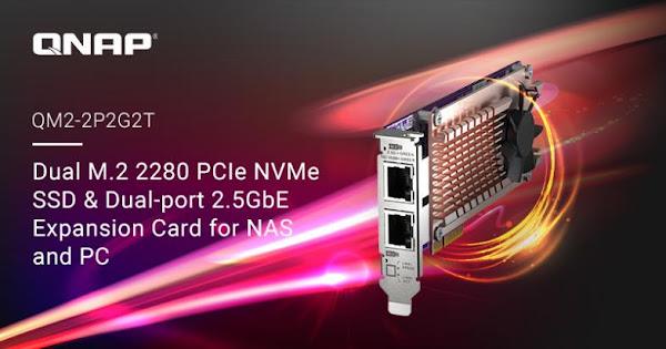 QNAP lança a placa PCIe QM2-2P2G2T para NAS/PC
