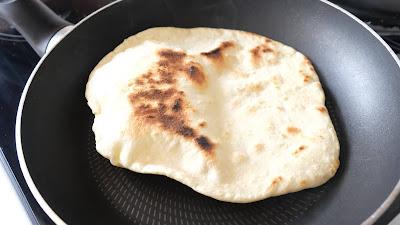 Flatbread in pan