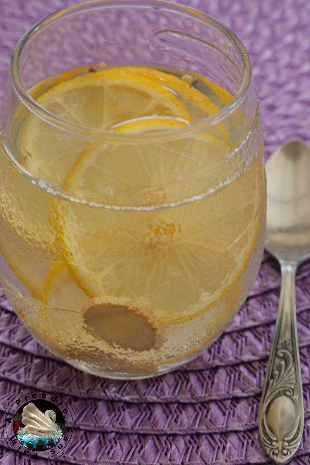 Eau détox citron gingembre