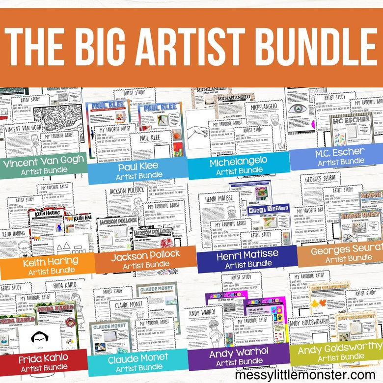 famous artist art projects for kids