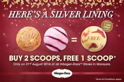 Häagen-Dazs Malaysia Buy 2 Scoops Free 1 Scoop Ice Cream Promo