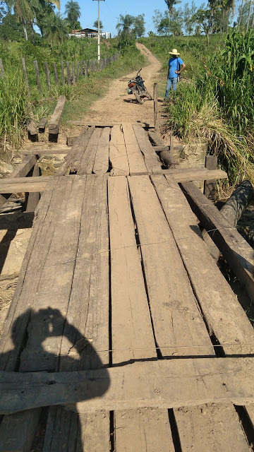 São José dos Basilios | População reclama das péssimas condições da ponte do Povoado Lagoa Bonita