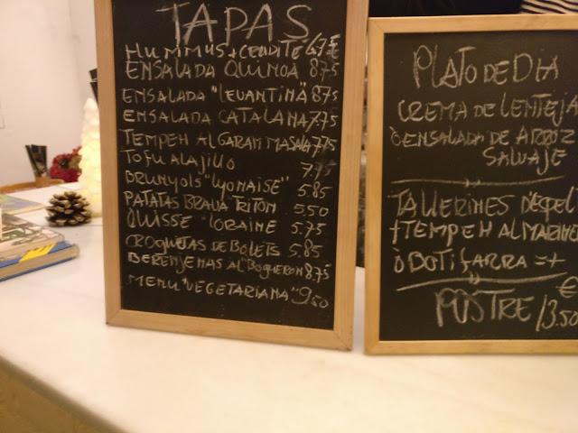 Menú del Tritón restaurant de proximitat Sant Feliu de Guíxols