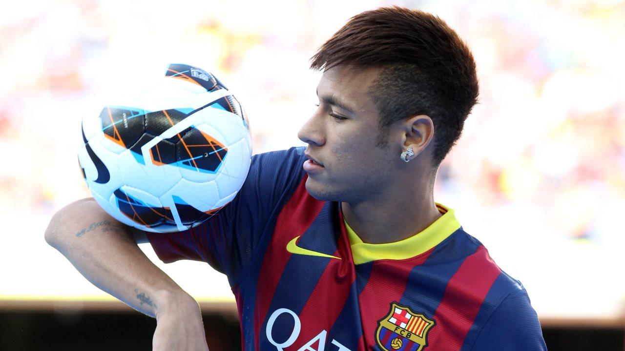 neymar presentation barcelona 2013