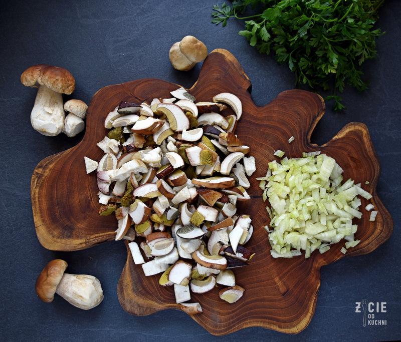 tarta, grzyby, prawdziwki, grzybobranie, tarta zgrzybami, przepisy z grzybami