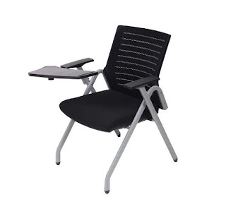 UNIMAPLE WITH U Coach-S Ergonomic Foldable Study Chair with Writing Pad and Cup Holder