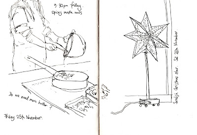 A Drawing A Day: 21st- 26th November: lifedrawing, cafe