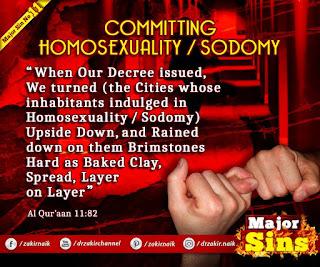 MAJOR SIN. 11. COMMITTING HOMOSEXUALITY / SODOMY | Kabira Gunah