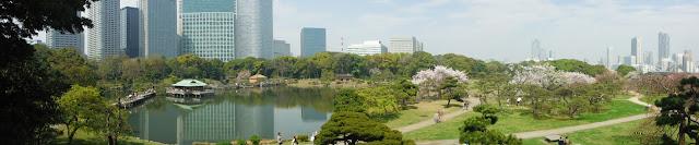 Panorámica de los Hama-rikyu Gardens