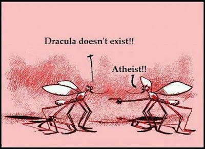 Meme de humor sobre vampiros, religión y mosquitos