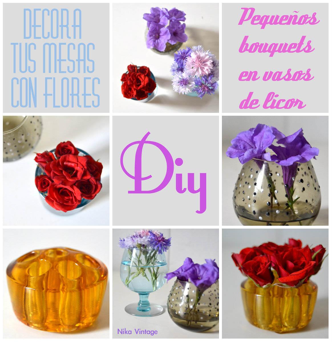 flores, cristal, bouquet, bouquets, vaso, vasos, copa, licor, diy, hazlo tu mismo