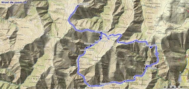 Mapa de la Ruta al Pico Cervero desde Vega de Hórreo