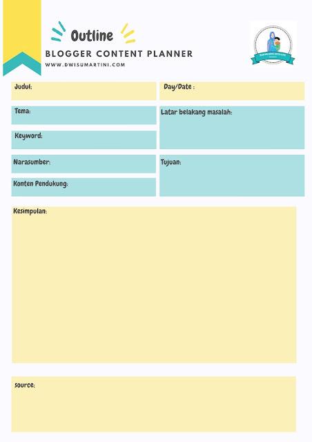 Outline Artikel dalam daily planner