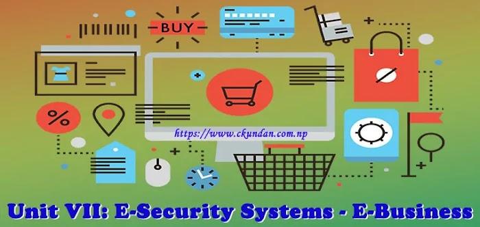 Unit VII: E-Security Systems - E-Business