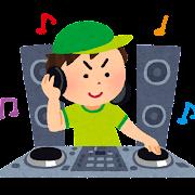 DJのイラスト(CD・男性)