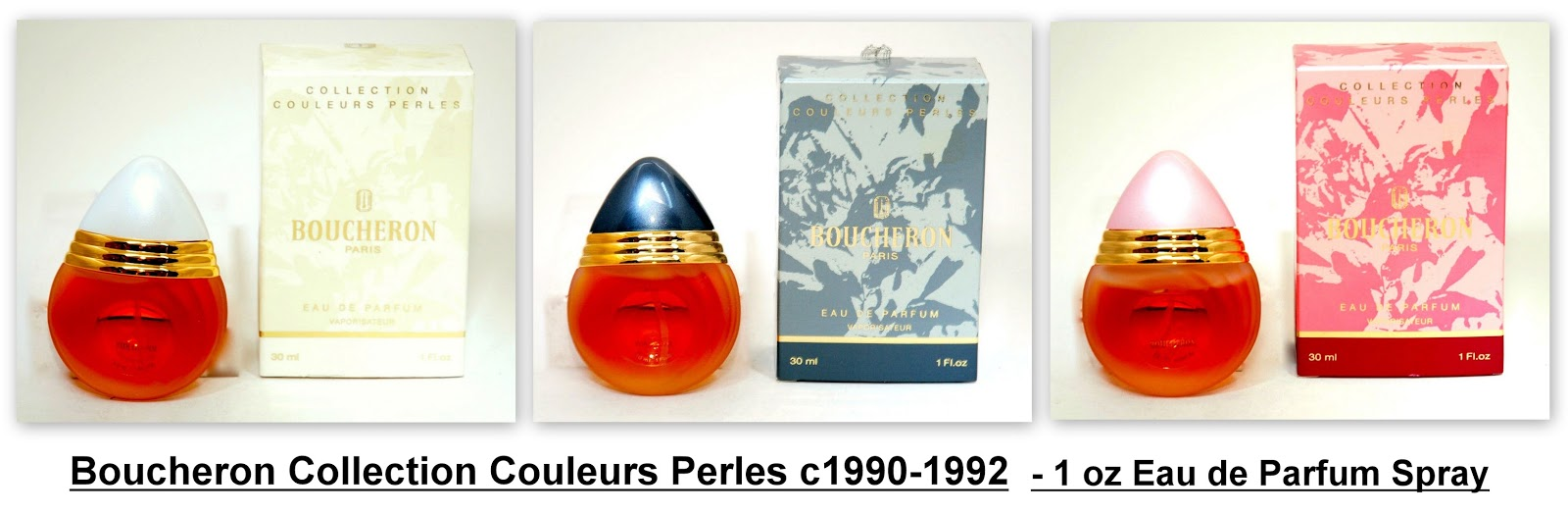 Cleopatras Boudoir Boucheron By C1988 Hermes Terre D Parfum Flacon H 2014 For Men Edp 75ml These Bottles Had Colored Plastic Cabochons Caps Simulating Pink Tahitian Black And White Pearls Spray Held 1 Ounce Of Eau De