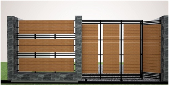 Desain Pagar Kayu Rumah Minimalis