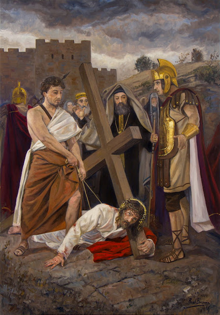 IX Estação da Via-Sacra - Jesus cai pela terceira vez