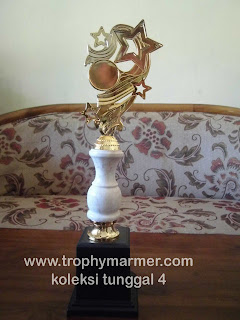 Harga Trophy piala marmer Koleksi 4 tunggal