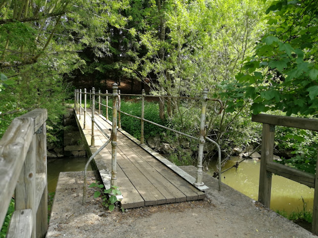 Brücke über den Roten Main nahe Eremitage, Bayreuth