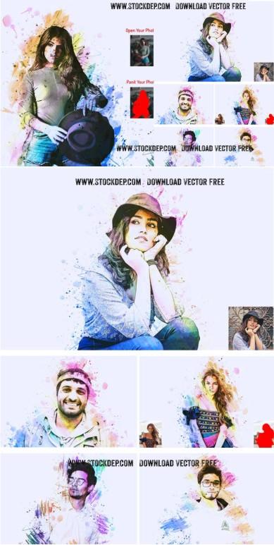CreativeMarket – Cover Portrait Photoshop Action Download free