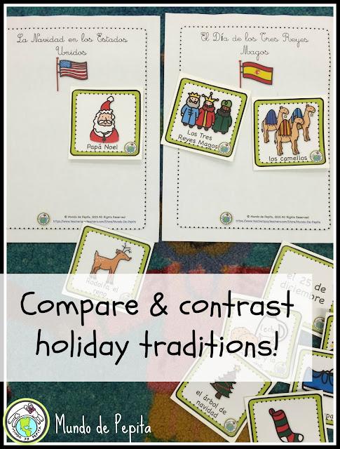 holiday comparison la navidad el día de los tres reyes magos